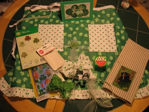 st patty day apron swap