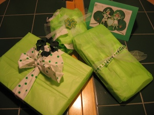 st patty day presents for jeanie
