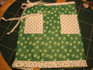 """Erin's Green"" apron"