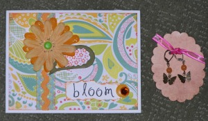 butterfly earrings and bloom card from denise